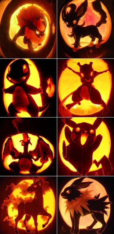 halloween kürbis schnitzvorlageböse kürbislaterne basteln kindheitshelden herbstfarben