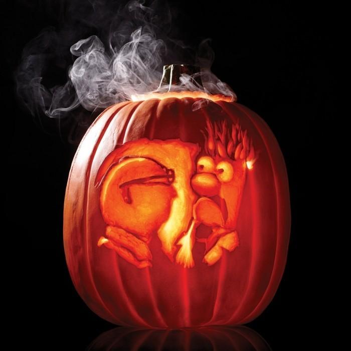 halloween kürbis schnitzvorlageböse kürbislaterne basteln kindheitshelden