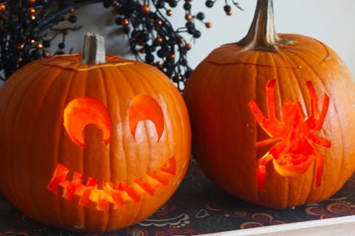 halloween kürbis schnitzvorlageböse kürbislaterne basteln monster