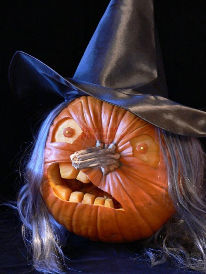 halloween kürbis schnitzvorlageböse kürbislaterne basteln naturmaterialien