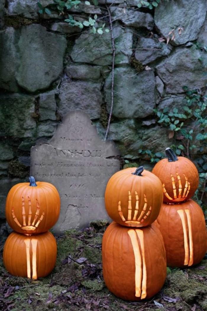 halloween kürbis schnitzvorlageböse kürbislaterne basteln skelett