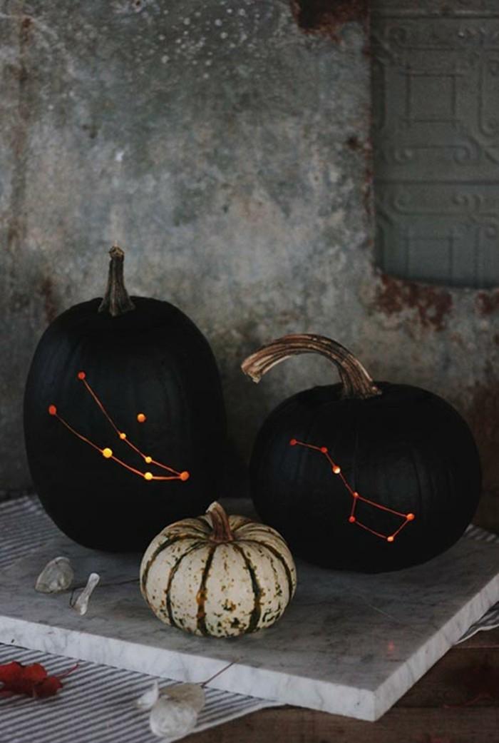 halloween kürbis schnitzvorlageböse kürbislaterne basteln sternkarte