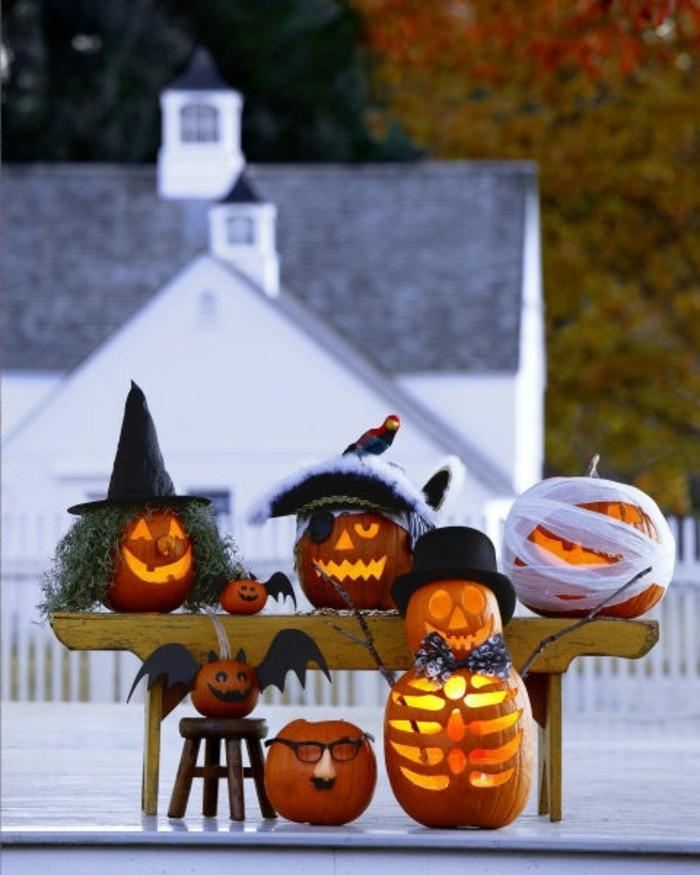 halloween kürbis schnitzvorlageböse kürbislaterne basteln szene