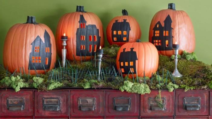 halloween kürbis schnitzvorlageböse kürbislaterne basteln und malen