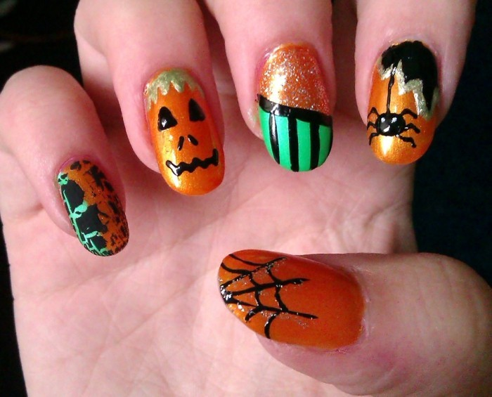 halloween nägel frische ideen für den halloween look