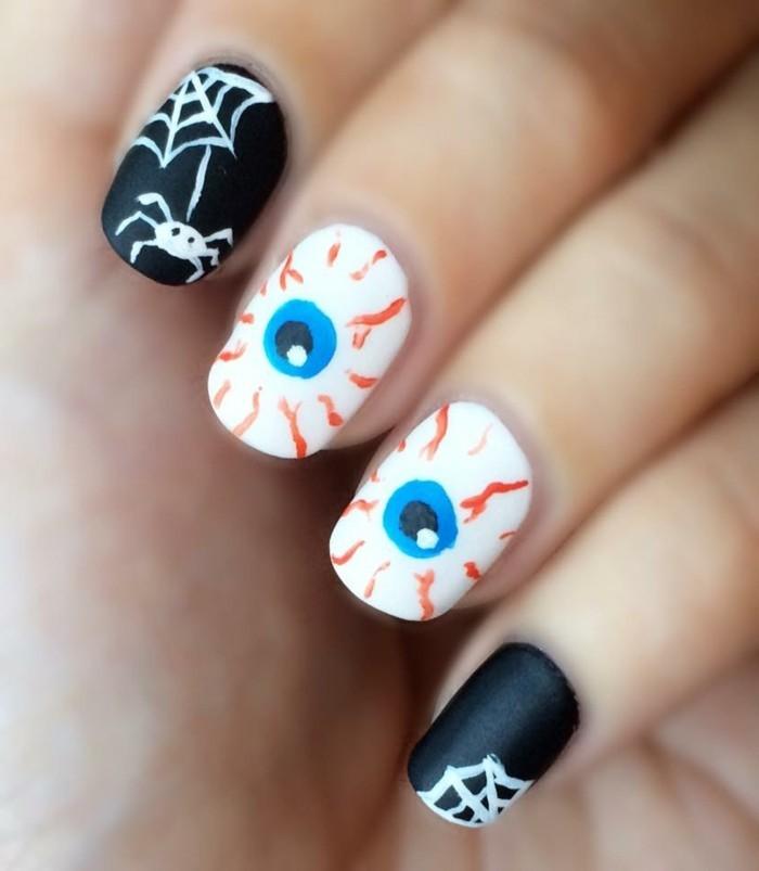 halloween nägel interessante ideen für gruselige nägel