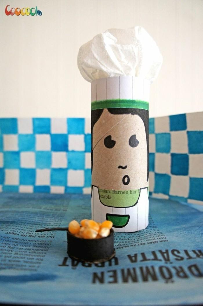 herbstbasteln mit kindern herbstdeko selber machen basteln mit klopapierrollen maennchen