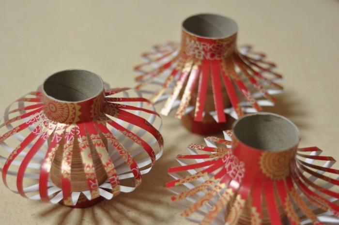 herbstbasteln mit kindern herbstdeko selber machen basteln mit klopapierrollen und garn