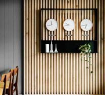 Holzwand im Innenraum- ein Evergreen, der sowohl rustikal, als auch luxuriös erscheint