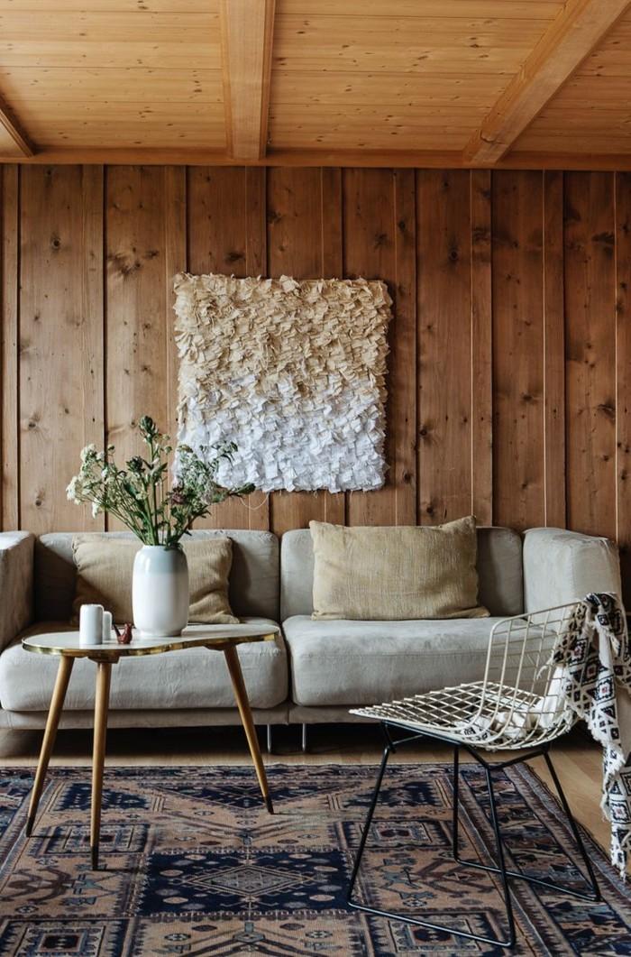 Holzwand im innenraum ein evergreen der sowohl rustikal als auch luxuri s erscheint - Holzwand rustikal ...