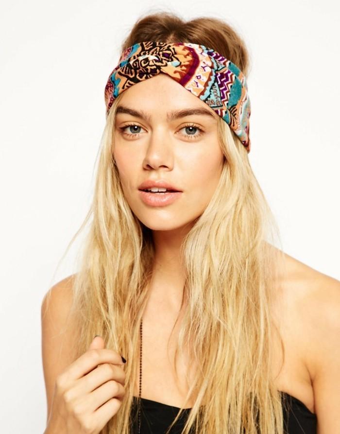 ideen zu bandana binden blondes haar