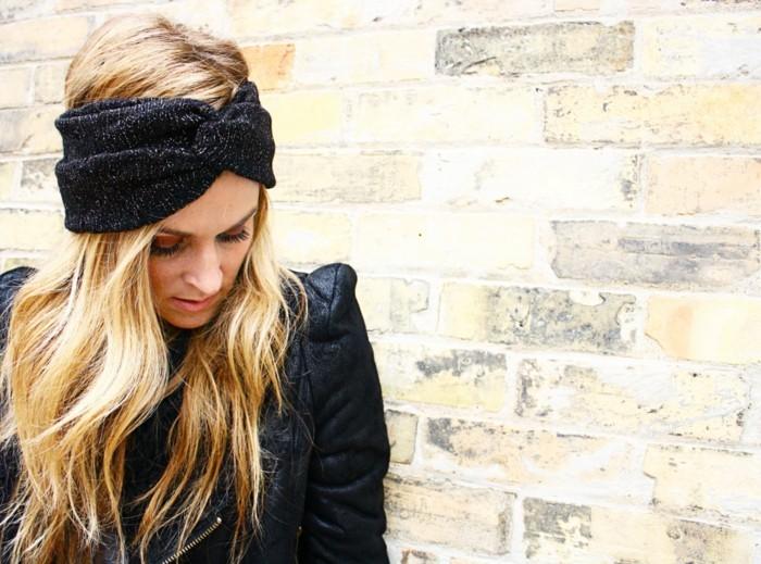 ideen zu bandana binden stilvoll in schwarz