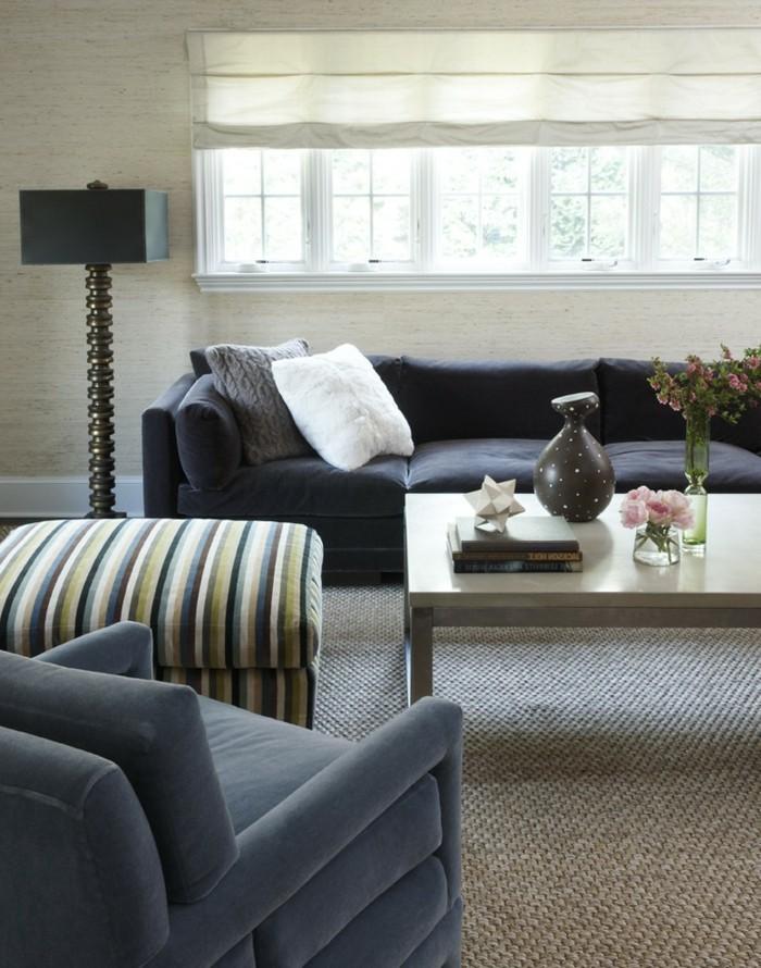 ideen zu wollteppich im wohnzimmer passende farbe