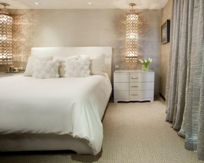 ideen zu wollteppich schlafzimmer einrichten mit teppichboden