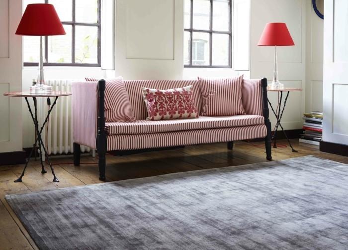ideen zu wollteppich stilvolles design in graunuancen