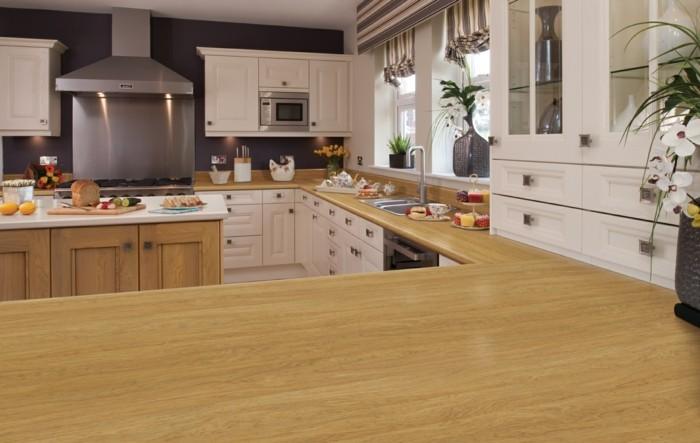küchenarbeitsplatten große küche mit großer arbeitsplatte und viel stauraum