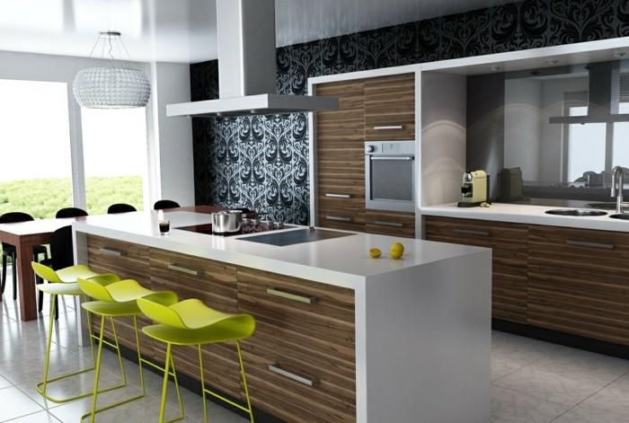 küchenarbeitsplatten in weiß haben eine schöne optik