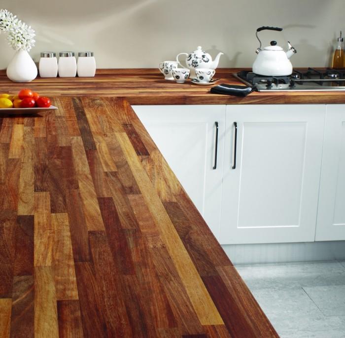 küchenarbeitsplatten mit wunderschöner hölzerner optik