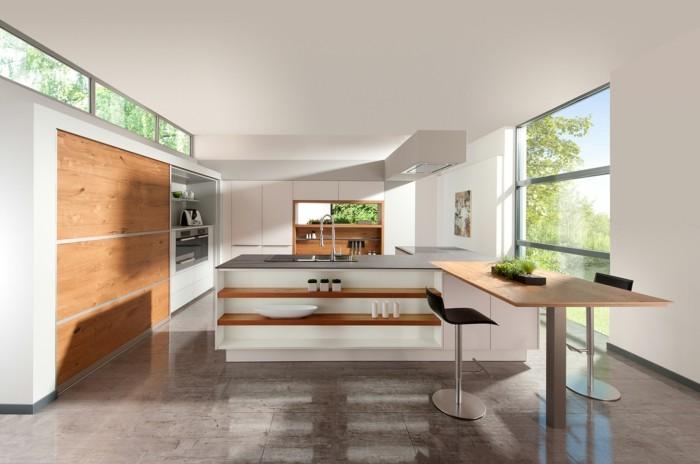 küchenarbeitsplatten schickes küchendesign in weiß un grau