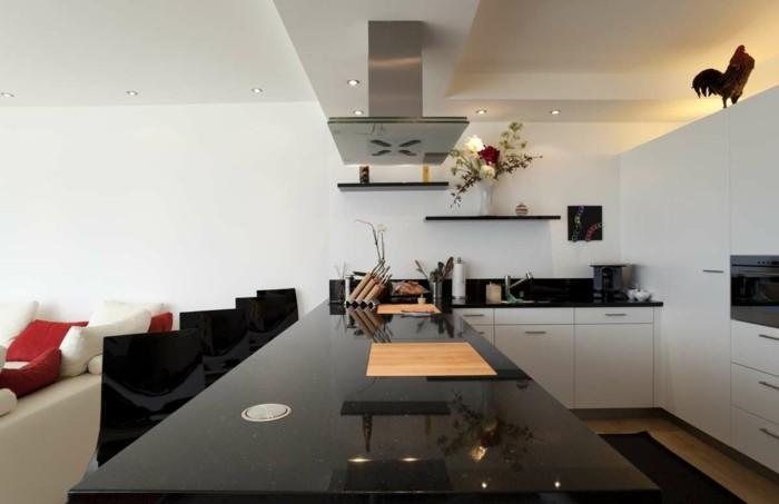 küchenarbeitsplatten schwarze küchenplatte mit glitzernden elementen