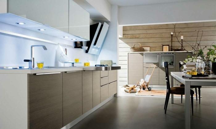 küchenarbeitsplatten stilvoll und schlicht neutrale farben kombinieren