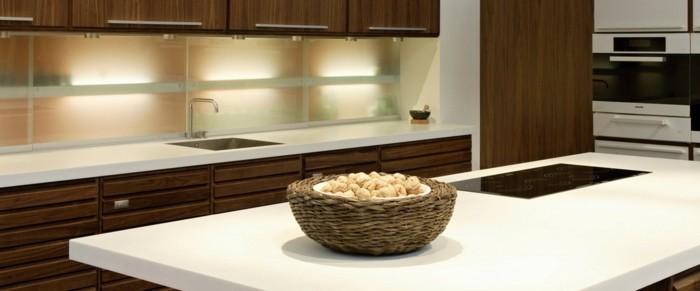 küchenarbeitsplatten weiße küchenplatte und moderne unterschränke