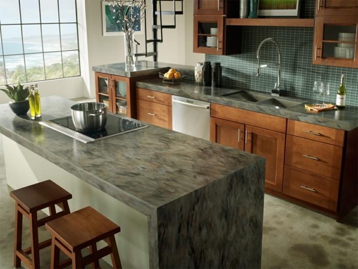 küchenarbeitsplatten wunderschönes design wohnideen küche