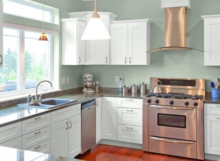 küchentrends 2017 dusty colors schöne grüne wandfarbe