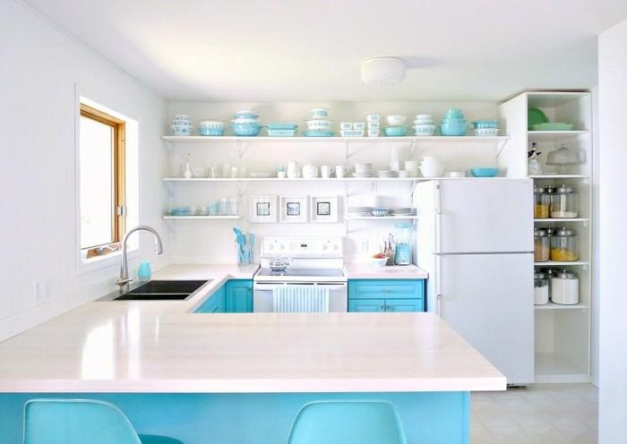küchentrends 2019 blau und aqua als schöne akzente