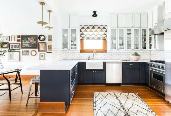küchentrends 2019 graue küchenschränke und weiße wände