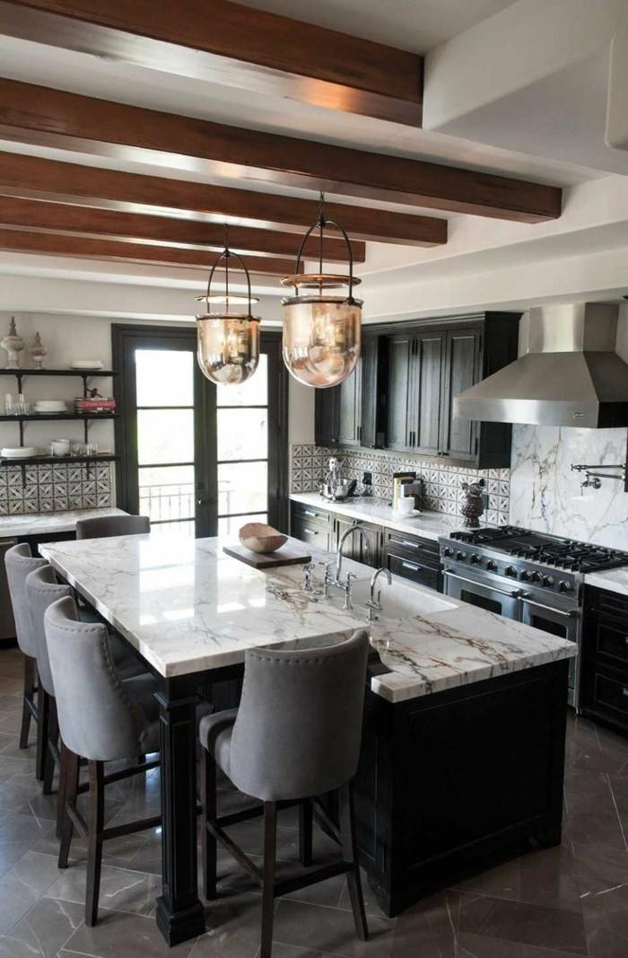 küchentrends 2019 mattes schwarz und marmor oberflächen