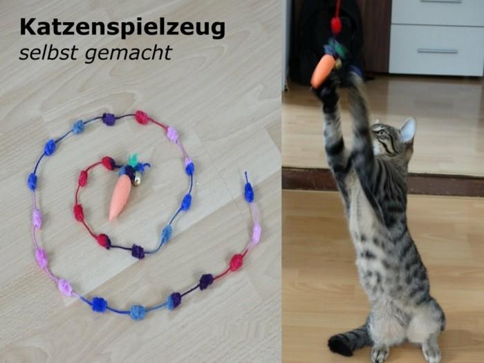 Relativ Кatzenspielzeug selber machen - 65 prickelnde Ideen und Beispiele OT75