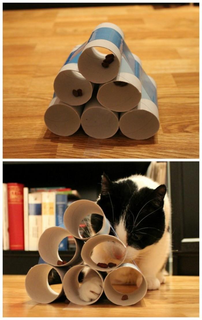 katzenspielzeug selber machen pyramide
