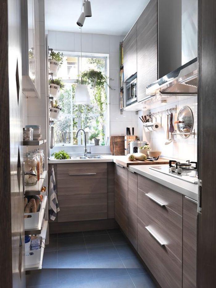 kleine Küche U-Form ideen