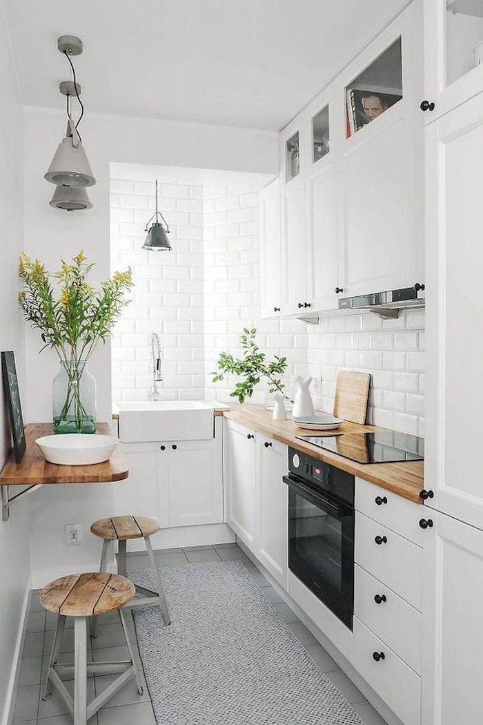 kleine Küchen weiß