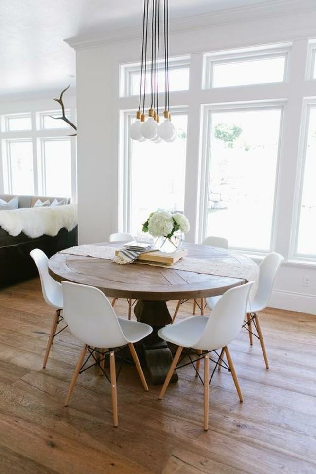lampen esszimmer gemütlicher essbereich mit kleinem runden tisch