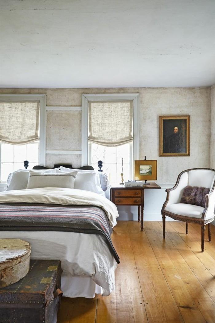 landhausstil schlafzimmer geräumiges schlafzimmer mit holzboden