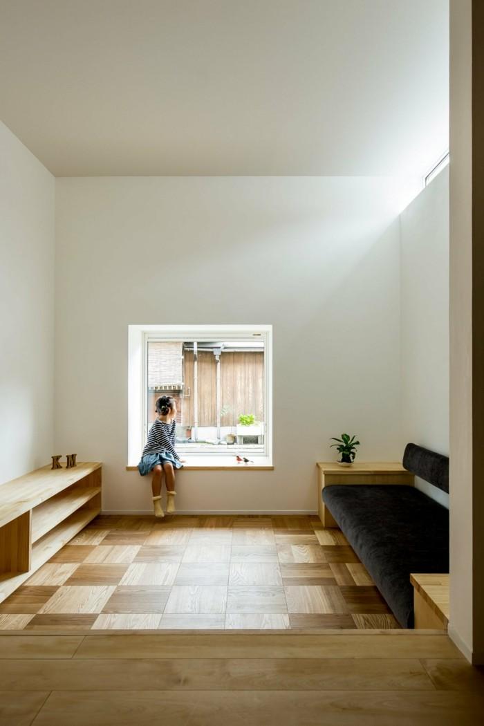 Moderne Architektur - Fenster mit integrierter Sitzbank