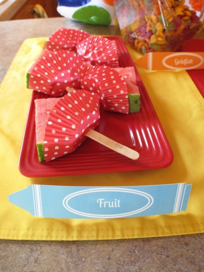 partysnacks kindergeburtstag essen party snacks aus stiel