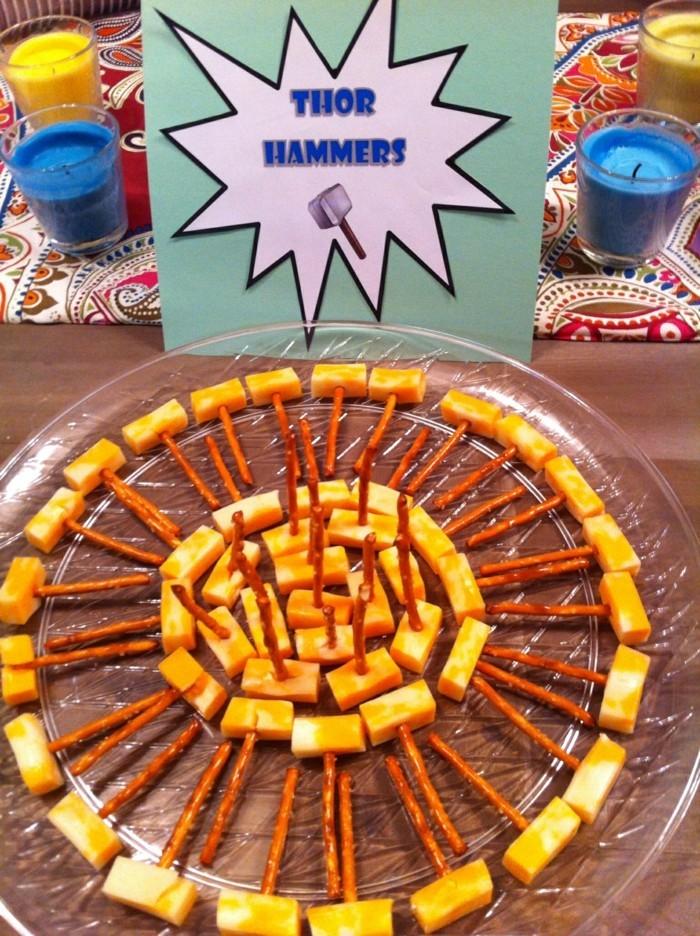 partysnacks kindergeburtstag essen party snacks tors hammer