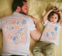 Kreative Rückenmassage dank coolem T Shirt Design möglich