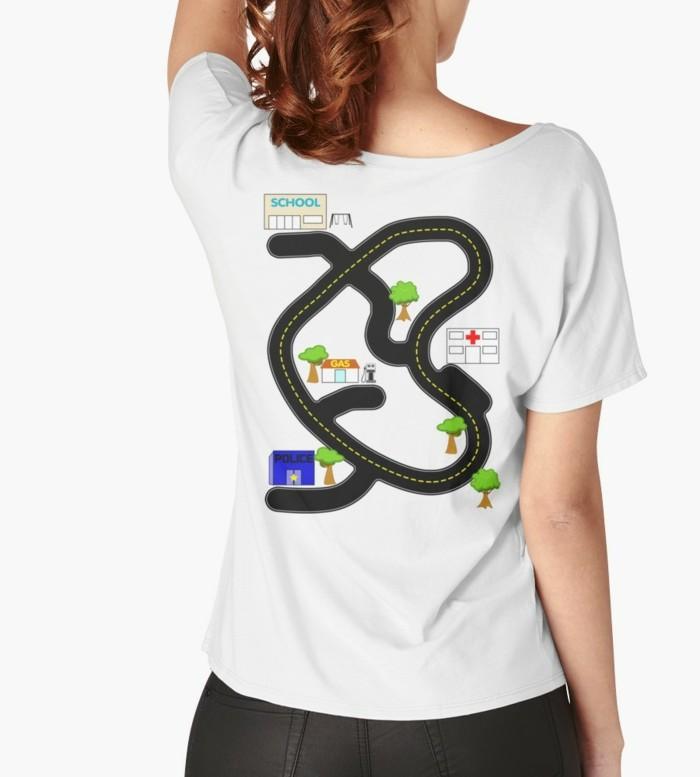 rueckenmassage t shirt design verkehrsregel