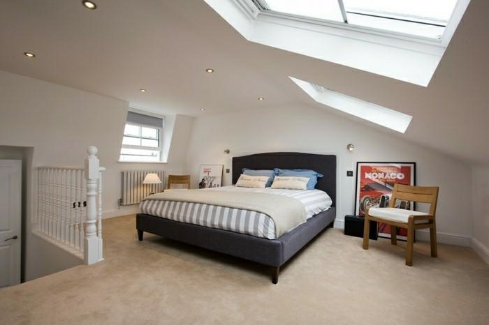 schlafzimmer dachschräge ausgefallene interieur lösungen