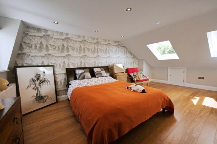 Schlafzimmer Dachschräge Gemütlicher Schlafbereich