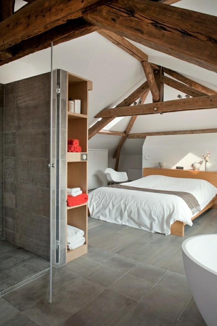 schlafzimmer dachschräge holzdecke verleiht dem interieur mehr wärme