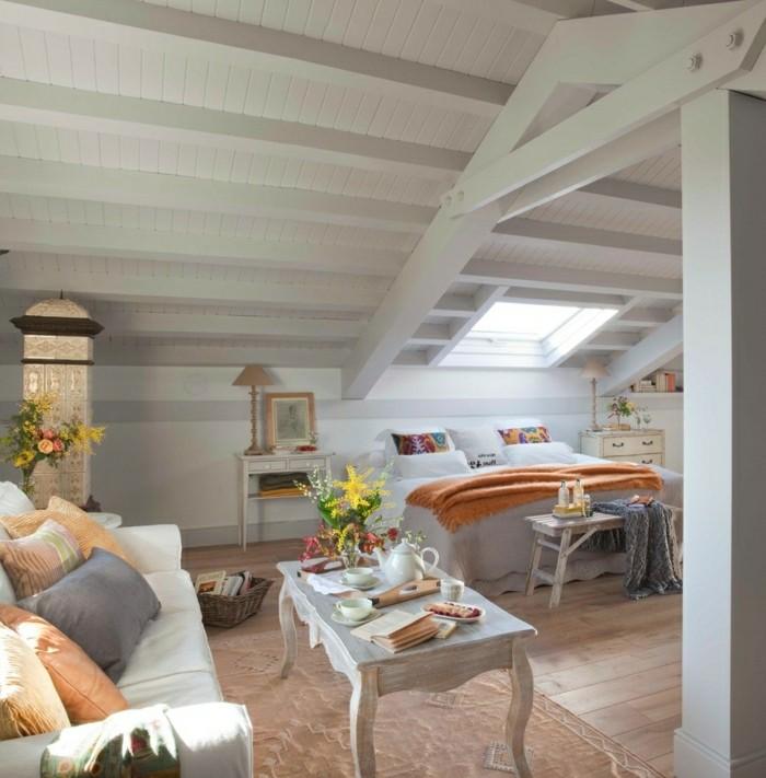 Tapeten Für Schlafzimmer Mit Dachschräge: 33 Ideen Für Den Schlafbereich