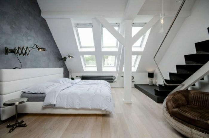 schlafzimmer einrichten mit dachschräge männlicher look