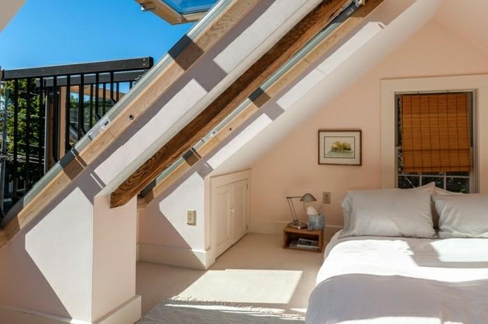 schlafzimmer einrichten mit dachschräge schöne aussichten