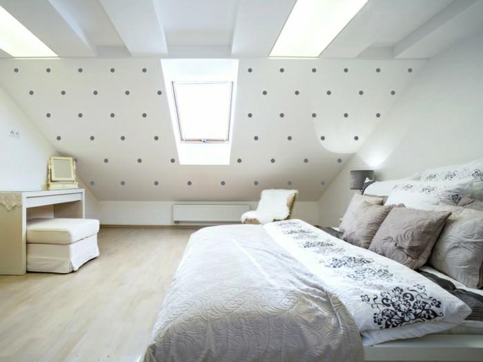 schlafzimmer einrichten schöne tapete und weiße wände