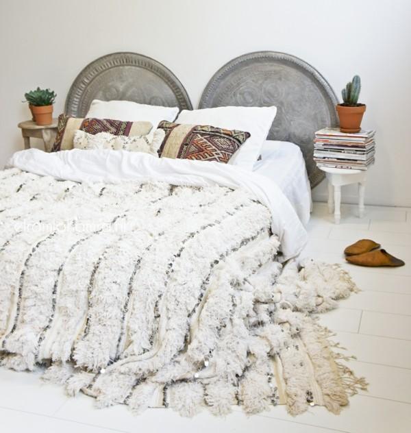 berberbettdecke aus wolle schlafzimmer